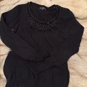 💎 Bejeweled Forever 21 dark gray sweater, fits S